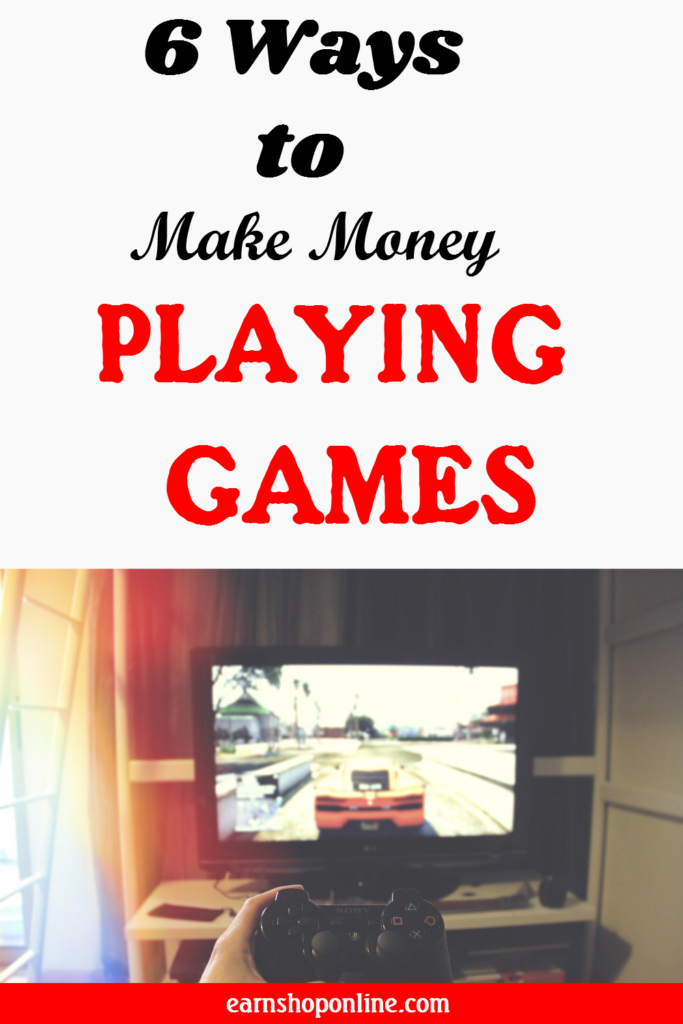 How to make money online playing games